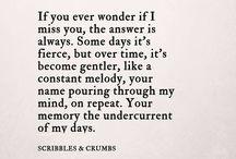 Jag saknar dig