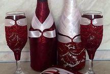 garrafas super decoração fina.