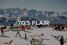 70's Flair / Fitted, super sporty garments to transform your body into something totally dynamic. Bold, vibrant colours - plus joy and fun: ski and après ski wear, with an iconic, geometric, basic look!