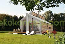 Casas prefabricadas / El día que compre un terrenín, podría poner una casa de estas... ¡me encantan!