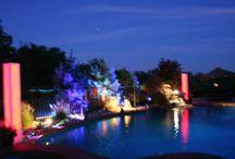 Pool Party Lighting Set-up / Platinum Disc Jockey's Lighting Systems