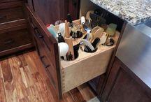 kitchen island & storage