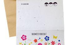Bloeikaarten / growing paper bloeipapier groeipapier bloeikaarten