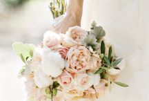 bridal bouquet with cotton