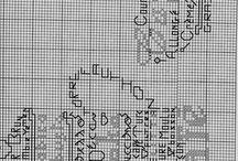 karatahta kanavice sablonlari / chalkboard cross stitch crafta