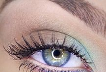 Colourful eye makeup