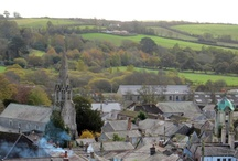 Cornish countryside / The ancient stannary town of Lostwithiel in the Fowey river valley, south east Cornwall.