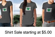 Heart in Oregon Shirt Sale till Valentine's Day / Share the Oregon love with your loved ones, starting at just $5. All our shirts on sale till Valentines day.