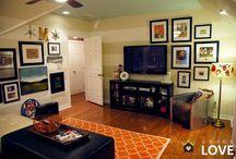 TV Wall / Television + gallery walls