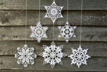 Crochet - estrelas Natal