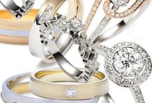 Wedding Bands and Engagement Rings Set