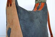 Сумка рюкзак из ткани
