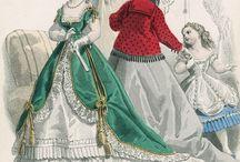 vignette abiti 1860 / stampe modelli abiti donna 1860