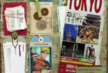 Art journaling / Inspiration for the travel journals I like to make from now on