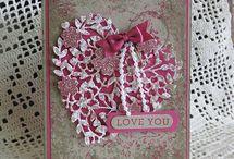 Card / Box  -  Blühendes Herz / Blüten der Liebe / Liebesblüten