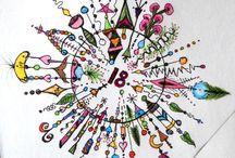 Cards birthday zentangle Doodle