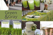 Gray & Green Wedding
