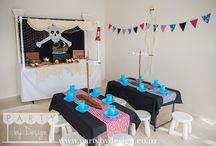 Pirate Party Package / Ahoy maties, want to celebrate in style and throw a memorable kids birthday party for a special pirate and his merry crew?  Let Party by Design's Auckland team help with our themed children's party packages and dessert tables.  Visit www.partybydesign.co.nz