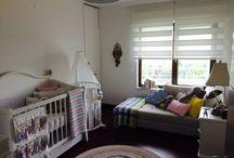 Su's nursery / Bright colorful baby girl nursery...