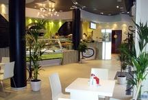 Café Innenarchitektur / moderne und ansprechende Café Innenarchitektur