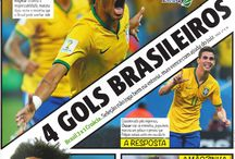 Brasil 2014 World Champion Newspaper Covers / Newspaper covers from all around the world