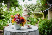 Whimsical tea party engagement shoot / Engagement tea party