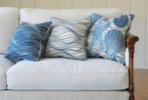 Coastal collection textile line  / My line of custom sea inspired textiles sold by the yard and are available in custom Color ways
