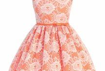 Orange & Coral Flower Girl Dresses