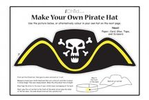 Pirates / Craft activities for children to colour in, dress up as a pirate with our pirate hat craft and strike fear into their foes with the skull and cross bones flag! / by iChild.co.uk
