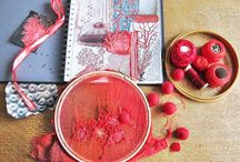 Coral - Textile and Collage / Sketchbook and textile work by Diana Taylor at Velvet Moth Studio
