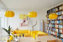 interior with yellow