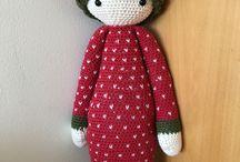 Crochet & knitting / Baby blanket, Lalylala dolls, hat