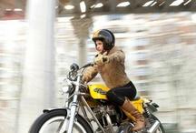 Girl & bikers & enjoy