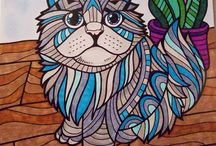 ColorIt Animal Submissions / Enjoy our vibrant collection of animal coloring pages from our Wild Animals Adult Coloring Book, submitted by none other than our awesome ColorIt fans!