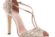 Dainty bridal shoes