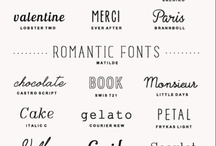 letters, words & sentences / typography, calligraphy, quotes, etc