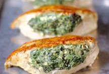 Spinach feta chicken