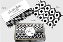 Calling / Business Cards and Matching Cases / Functional & Fashionable metal cases hold and protect business cards.   Whether professional or personal, a great way to share your important contact information with friends and contacts~