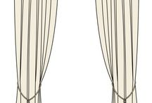 Curtains - line drawing