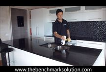 How to Maintain my Granite, Caesarstone or Silestone benchtop / The best bench top products for your granite, caesarstone, marble, silestone and any other quartz bench top. www.thebenchmarksolution.com