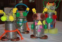 Bastelideen / Basteln rund ums Jahr, zum Geburtstag, Ostern, Weihnachten und anderen Festen und Gelegenheiten, mit Pappe, Papier und vielen anderen Materialien, für Erwachsene und Kinder, zum Spielen und Verschenken