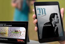 Communication digitale / Réalisations digitales : sites web, publications numériques sur tablettes tactiles, réalité augmentée…