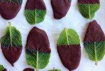 Choc coated mint leaves