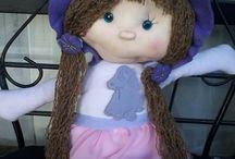 muñecos de tela / muñecos y juguetes de tela