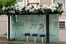 bus shelter art