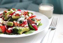 Salads / Bacon ago and strawberry salad