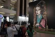 Mike Stilkey Exhibition in Hong Kong