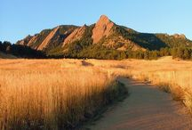 Beautiful Boulder / The backdrop of Boulder, Colorado is the beautiful Flatirons.