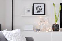 black nad white livingroom