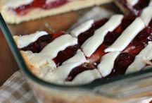 Strawberry Pie / Barras de fresa